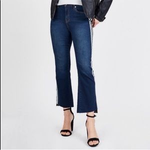 • Juicy Couture • Side Stripe Cropped Flared Jeans
